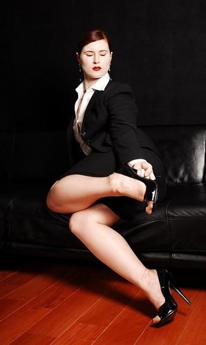Sekretärin in High Heels